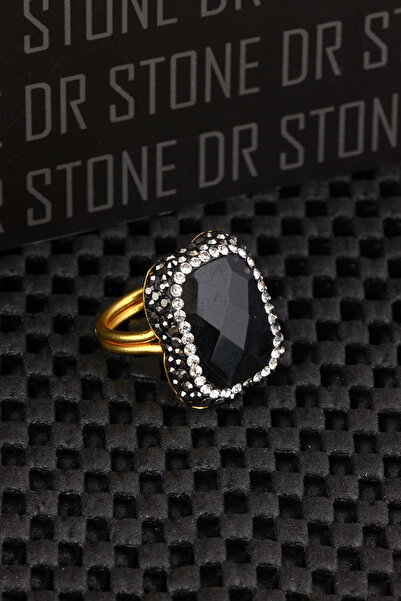 Dr. Stone Kadın Siyah Taşlı Yüzük