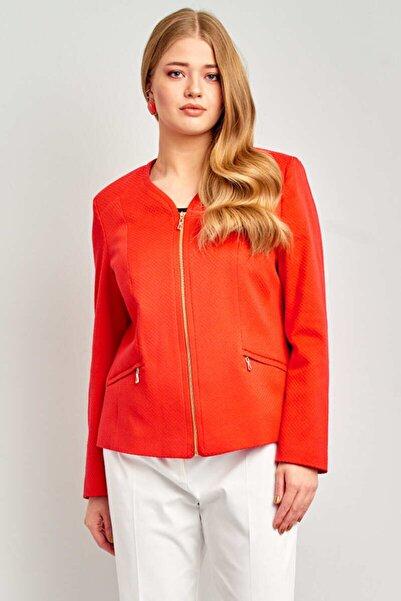 Ekol Kadın Kabartma Desenli Ceket