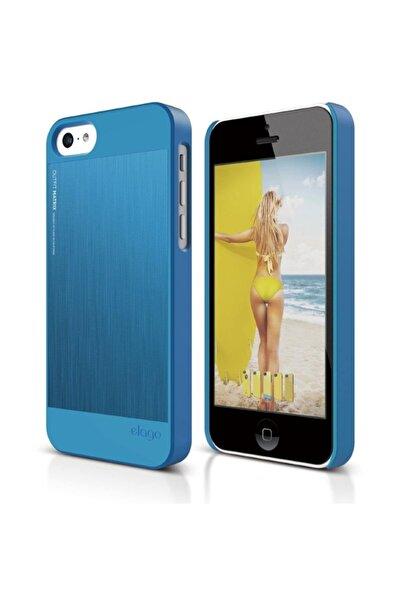 Elago iPhone 5C OutFit Matrix Series Mavi Rubber Kılıf