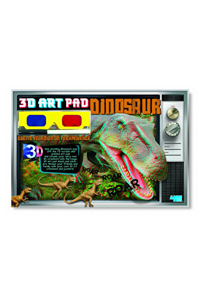 4M 3D Art Pad Dınosaur / 3D Dinozor