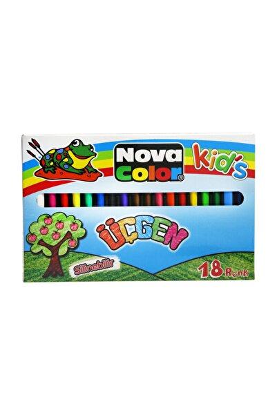 Nova Color 18 Renk Üçgen Mum Boya Nc-2120