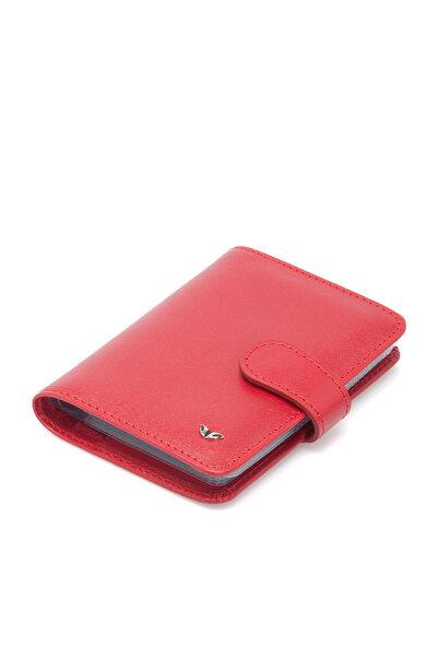 Tergan Hakiki Deri Kırmızı Unisex Kredi Kartlık S1KK00001210