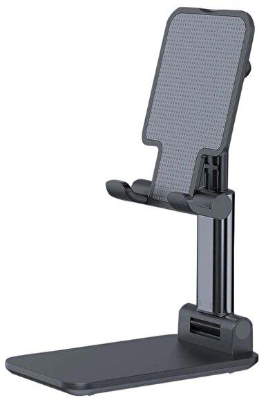 Wonderlust Profesyonel Tablet Ve Telefon Tutucu Stand 2 Kademeli Uzunluk Siyah