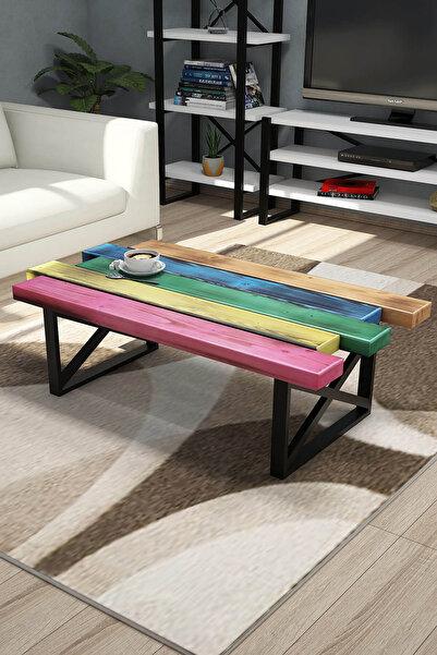 Puzzle Design Puzzle Desıgn Color Karışık Renklı Ahşap Sehpa