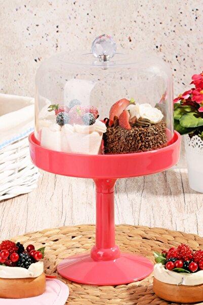Kitchen World Kristal Topuzlu Ayaklı Akrilik Kek Fanusu 5073