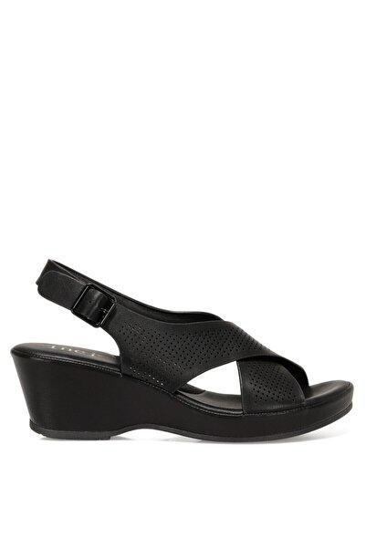 İnci CALVISANO 1FX Siyah Kadın Dolgu Topuklu Sandalet 101027721
