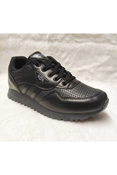 SDS Unisex Siyah Spor Ayakkabı