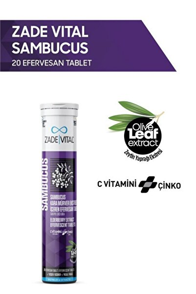 Zade Vital Sambucus - Kara Mürver Ekstresi Efervesan 20 Tablet