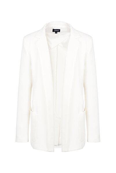 Armani Jeans Kadın Beyaz Ceket 3Y5G105N1Mz