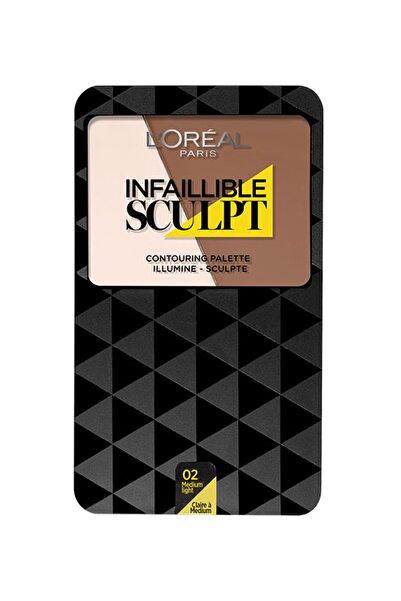L'Oreal Paris Kontür Paleti - Infallible Sculpt Contouring Palette 02 Medium/Light 3600523175130