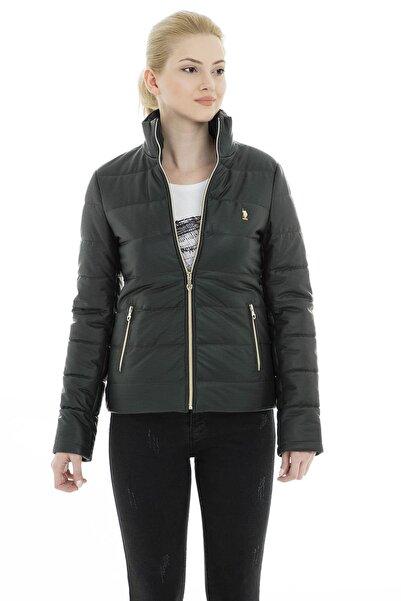 U.S. Polo Assn. Kadın Yeşil Suni Deri Ceket - G082Sz035P01 Wp8030