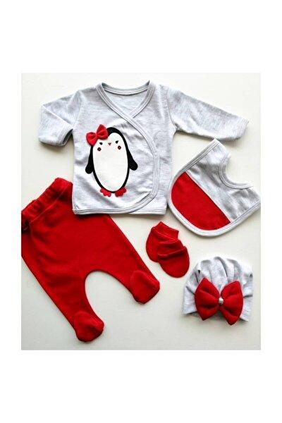 Nonna Baby Kız Bebek Kırmızı 5 Parça Hastane Çıkışı Seti 1005651