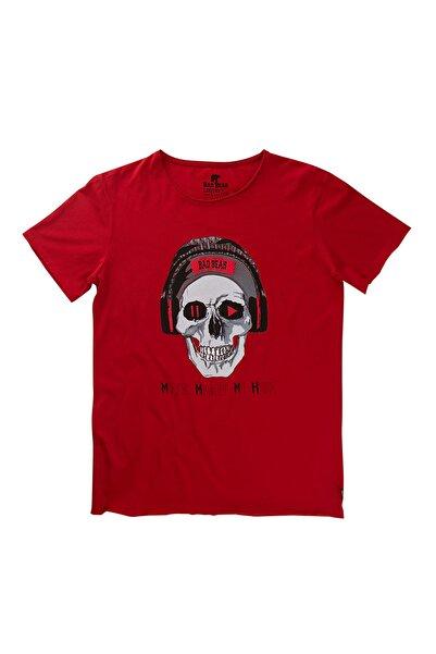 Bad Bear Kırmızı Erkek Tişört PLAY/PAUSE TEE CRIMSONRED