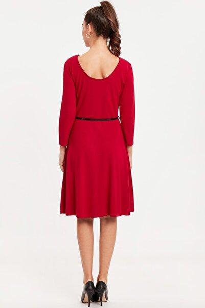LC Waikiki Kadın Kırmızı Elbise 8WN071Z8
