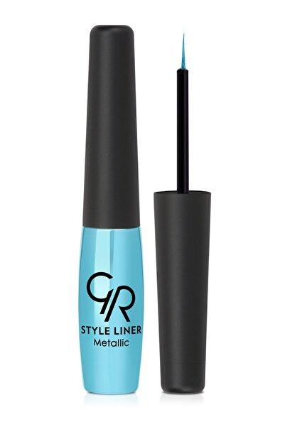Golden Rose Metalik Mavi Eyeliner - Style Liner Metallic Eyeliner No: 01 8691190170011