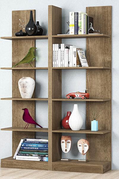 Puzzle Design İkiz Ceviz Kitaplık