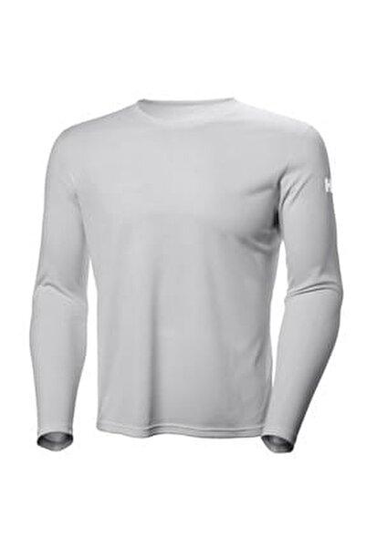 Tech Crew Uzun Kollu T Shirt Light Grey