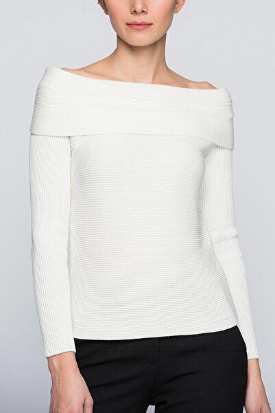 Armani Jeans Kadın Beyaz Kazak 6Y5Merkekc5Mkadıncz