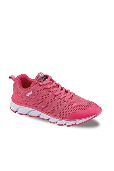 Jump Kadın Pembe Sneaker Fileli Hava Alnan Koşu Yürüyüş Ayakkabısı