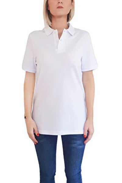 Kadın Beyaz T-Shirt POLO-F-B