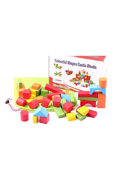 Learning Toys Renkli Ahşap Blok Oyunu /