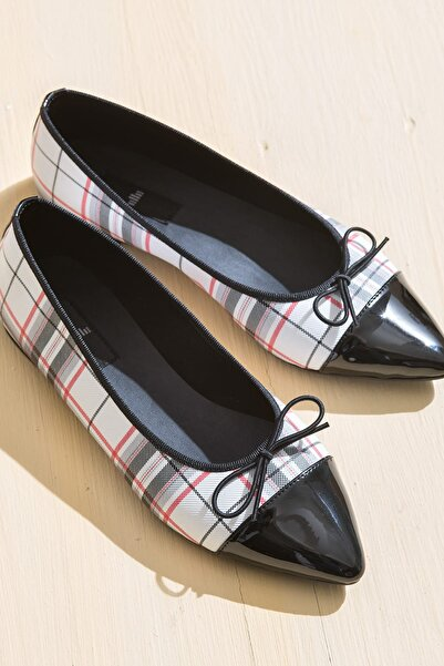 Elle Shoes HAWI Ekose Kırmızı Kadın Ayakkabı