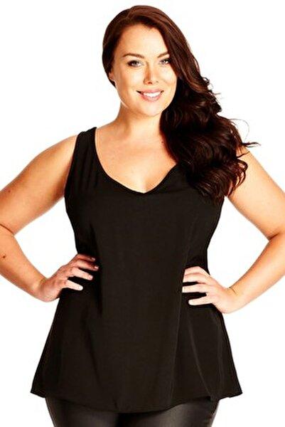 Kadın Siyah Bluz SS01576FB