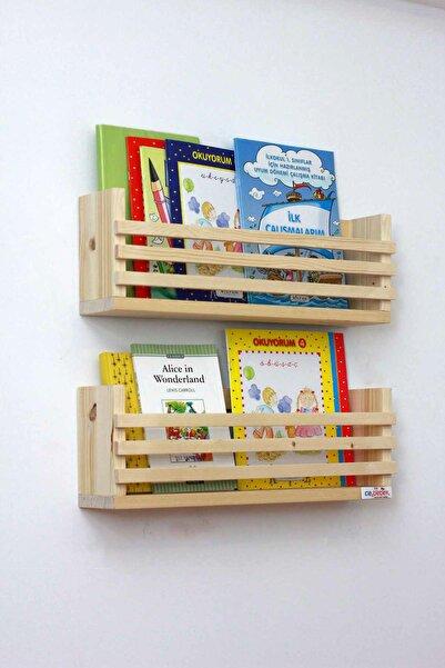 Ceebebek Ahşap Bebek Çocuk Odası Duvar Rafı Kitaplık Eğitici Montessori Raf Gazetelik Dergilik CEEN2PRMK4015
