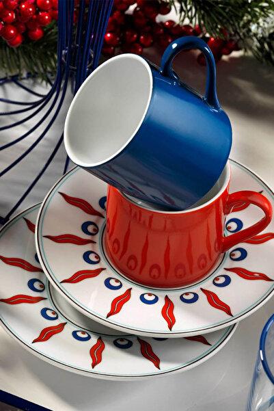 Kütahya Porselen Çintemani 9730 Desen Kahve Fincan Takımı