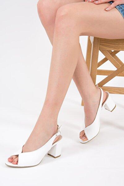 Fox Shoes Beyaz Kadın Topuklu Ayakkabı F643221009