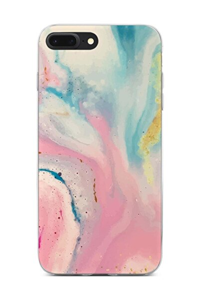 Melefoni iPhone 7 Plus Kılıf Marble Mermer Desenli Ebruli