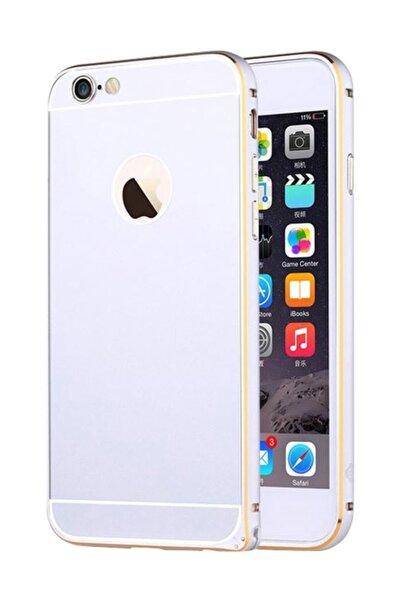 Totu Design Gemini iPhone 6 / 6S Çift Katmanlı Silver Metal Kılıf