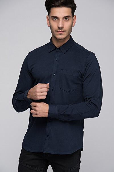 Jack & Jones Gömlek - Pique Core Shirt LS-12129671