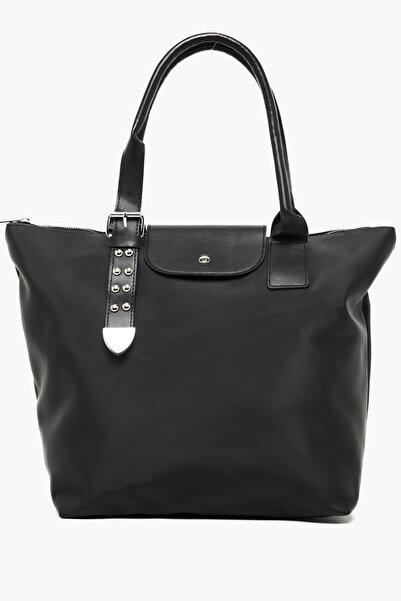 Koton Kadın  Siyah Deri Görünümlü Kol Çantası 9KAK30123AA