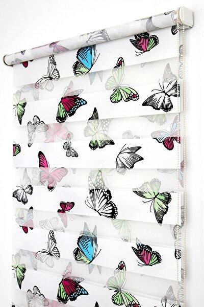 Tengo Zebra Perde 120X200 Kelebek Desenli Çocuk ve Genç Odası Stor