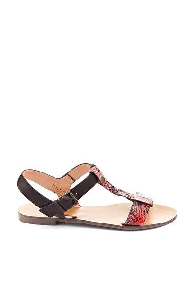 İnci Hakiki Deri Pembe Kadın Sandalet 120115953606