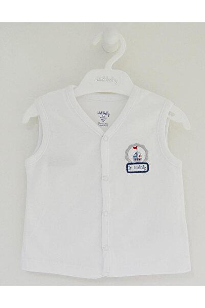 İDİL BABY 9135 Bebek Yelek Beyaz 3-6 Ay