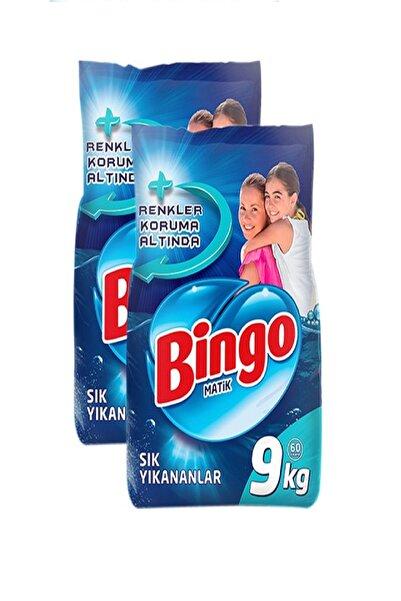 Bingo Renkli Beyaz Toz Çamaşır Deterjanı Bingo 9 kg 2 Adet 7777777174158