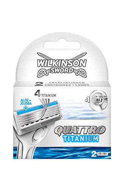Wilkinson Sword Quattro Titanium Sensitive 2 Yedek Kartuş Toptan - Koli Içi: 10 Adet