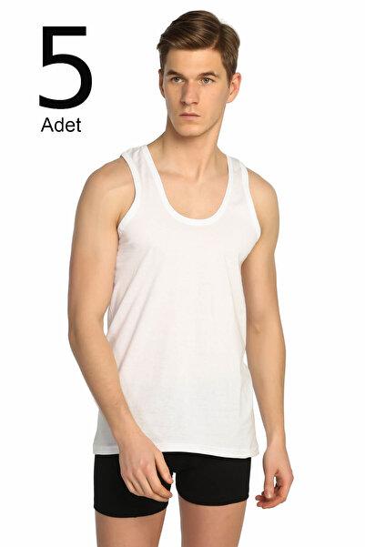 Tutku Erkek Beyaz 5'li Paket Klasik Atlet ELF568T0101CCM5