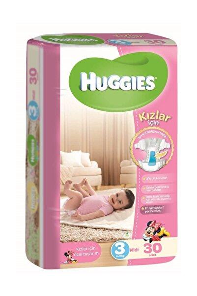 Huggies Bebek Bezi Kız 3 Beden 30 Adet