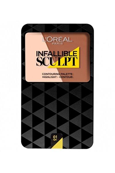 L'Oreal Paris Kontür Paleti - Infallible Sculpt Contouring Palette 01 Light 3600523174997