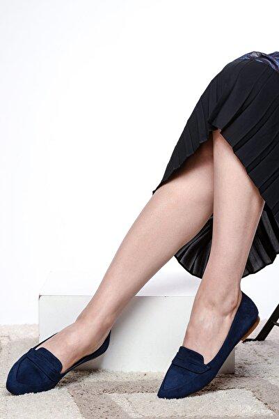 Shoes Time Lacivert Süet Kadın Babet 19Y 140
