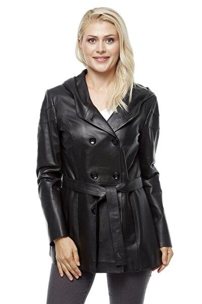 Deriza Kadın Taina Siyah Deri Ceket 3229