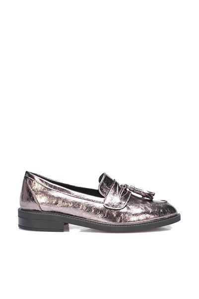 İnci Platin Kadın Loafer Ayakkabı 120130009180