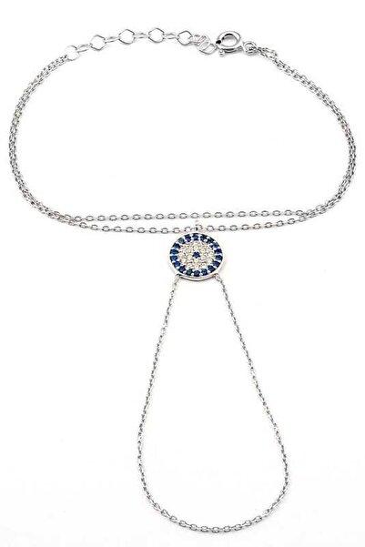 Welch Kadın Nazar Boncuğu White 925 Ayar Gümüş Şahmeran Bileklik WB-91