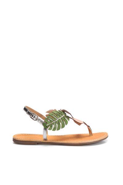 İnci Hakiki Deri Gümüş Kadın Sandalet 120130005453
