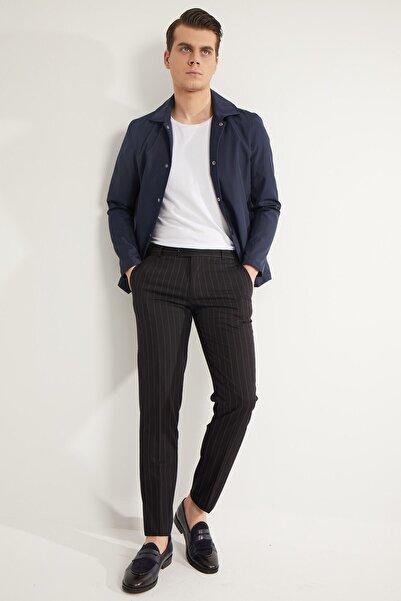 Fc Plus ErkekSiyah Çizgi Desen Klasik Erkek Pantolon
