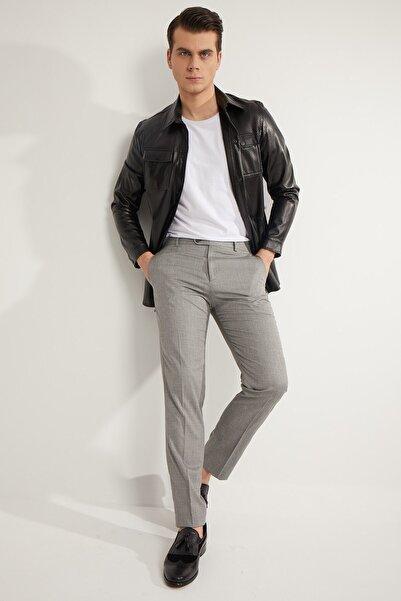 Fc Plus Erkek Siyah Desenli Pantolon - Slım Fıt