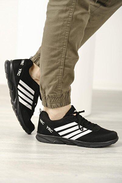 Oksit Unisex Aramis Şerit Detaylı Fileli Kalın Taban  Sneaker